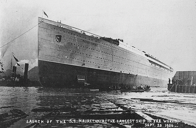 RMS Mauretania photographed shortly after her launch