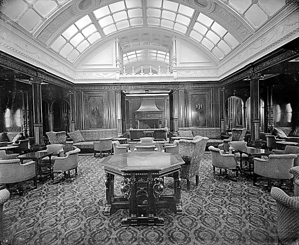 RMS Mauretania First Class Smoking Room